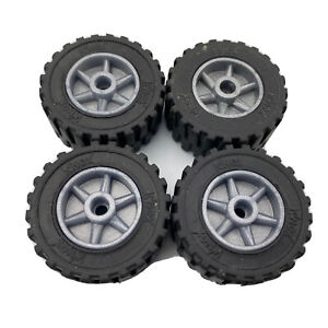"""4 Knex Small Tires 1"""" with Silver Hubs - Mario Cart"""