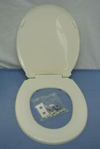 CHURCH BRAND TOILET SEAT PLASTIC IVORY BISCUIT LINEN COLOR ROUND