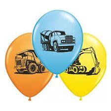 Party Supplies Birthday Boys Construction Trucks 28 cm Balloons Pk10