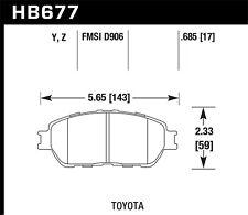 Disc Brake Pad Set-Base Front Hawk Perf HB677Z.685