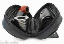 Sac à pipe / De 2 / Poche avant / Blague à tabac amovible / Cuir vachette