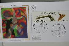 ENVELOPPE PREMIER JOUR SOIE 2002 L'ART CHOREGRAPHIQUE