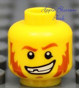 NEW Lego City MINIFIG HEAD Boy w/Brown Beard Mis Tooth -Kingdoms/Pirates/Castle
