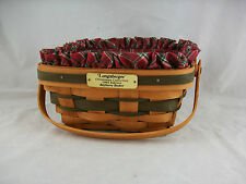 Longaberger 1993 Christmas Bayberry Basket Combo