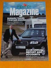 CARAVAN CLUB - SUBARU TAKES TOWCAR AWARD - Oct 2003