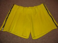 T-BAGS LOS ANGELES BRIGHT YELLOW SWEATER ZIPPER MINI SHORTS NWT S