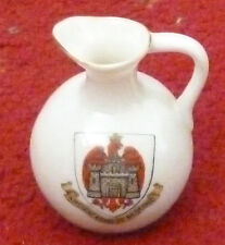 Ancient ARMS of BEDFORD Crested Cartlon China Ware JUG W. & R. Stoke - on- Trent