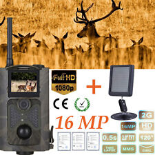 HC550M 2G GSM MMS SMS Scouting Infrared Trail Hunting Camera+Solar Panel Battery