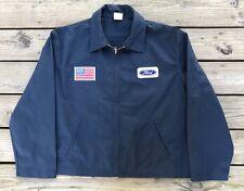 FORD Navy Blue GENUINE DICKIES Zip-up Hot Rod Mechanic Garage Jacket Men's XL