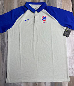New Men's Chicago Cubs Nike Dri-Fit Legacy Performance Golf Polo Sz LARGE $70