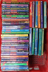 Lot of 35 R.L. Stine (30 Fear Street) paperback books and 11 by Christopher Pike