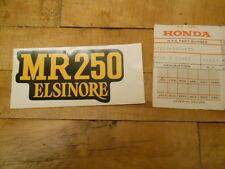 Honda NOS MR250, 1976, Right Side Cover Mark, # 87203-395-670   S-140