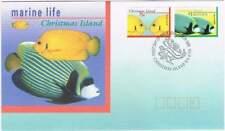 Christmas Island 1995 FDC 413-414 - Vissen / Fish