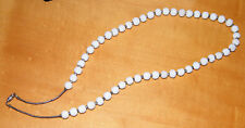 """Vintage WHITE CORAL BEADS NECKLACE Unpolished Natural 8-10mm Beads 26"""" Long"""