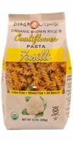 2 Organic Cauliflower Fusilli Pasta  Gluten & Wheat Free Natural & Kosher 2 pack