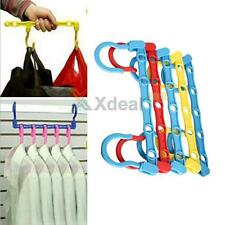 5pcs Magic Hangers Hook Closet Space Clothes Organize Organizer Saver Storage