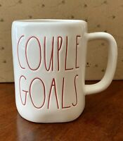 Rae Dunn 'COUPLE GOALS' Mug Coffee Tea Cup Ivory Ceramic Large Letter Farmhouse