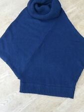 Excellent Condition Navy Jigsaw Poncho One Size