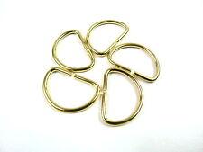 5 Brass D Ring Metal Rectangle Webbing Belt Ribbon Buckle DIY Bag Craft Handbag