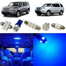 13x Blue LED lights interior package kit for 2009-2013 Honda Pilot HP1B