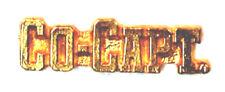 CO-CAPTAIN Chenille-Sports-Lapel-Jacket-Award Pins School-Team-Club FastShip