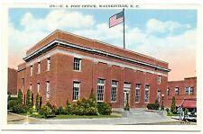 B6047 U. S. Post Office, Waynesville NC - Linen Postcard Asheville No. 47770
