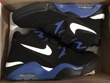 Men NIKE Charles Barkley Air Force 180 Basketball Shoes Black/Blue 9.5 NEW