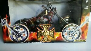 West Coast Choppers 1:10 Scale Jesse James, Penny Saved Pre Owned Good Condition