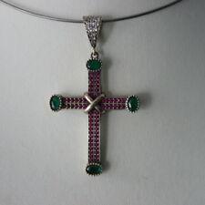 Topaz Sterling Silver Ruby Fine Necklaces & Pendants