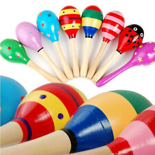Educational Child Wooden Toys Small Sand Hammer Maracas Rattle Talent Cultivate