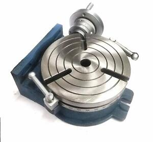 """HORIZONTAL VERTICAL HV8 ROTARY TABLE (200 MM / 8"""" INCHES) 3MT CENTER BORE"""