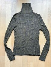 Topshop Turtle Neck High Jumper Knitwear Fitted Ribbed Size 8 S Casual Office Wa