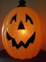 "VTG General Foam Plastic Halloween Blow Mold 25"" Jack O' Lantern Pumpkin 1980's"