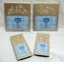 New Set Of 4 Winnie The Pooh Tigger Eeyore Intercraft Embossed Metal Gold Frames