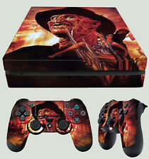 PS4 Slim Freddie Nightmare On Elm Street Classic Horror Sticker Skin + Pad decal
