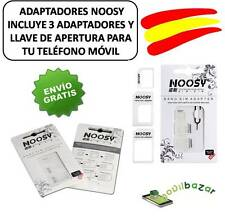 NOOSY ADAPTADOR 4 EN 1 NANO MICRO SIM MICROSIM IPHONE 5 4 4S 6 C MOVIL