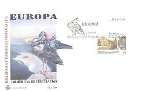 1999 SPD RESERVAS PARQUES NATURALES EUROPA EDIFIL 3628 GATO MONTES FDC   TC11232
