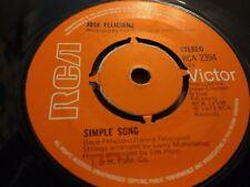 """José Feliciano """"compartimentos/simple canción"""" Single 7"""" muy buen 1973"""