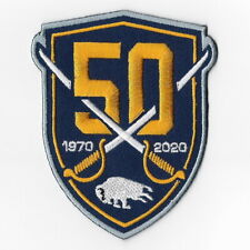 NHL Buffalo Sabres 50th Iron on Patches Embroidered Patch Applique 1970 - 2020
