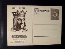 """GERMANIA,GERMANY 1930-1943 REICH ,"""" HEINRIC I/Enrico I """" 1 PostKarte nuova 6+4 p"""