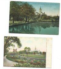 4 Vintage Post Cards postcards 1907-1910 Hartford & Bridgeport Connecticut