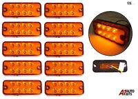 10 PCS ORANGE MARKER SIDE LED TRAILER LORRY RECOVERY POSITION LIGHTS LAMPS 12V