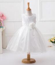 Girls Sequinned Dress Flower Princess Sleeveless Formal Party Wedding Bridesmaid