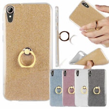 Bling Glitter Slim Soft TPU Silicone Case Ring Stand Cover For HTC U11 M9 M10