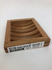Brand NEW IKEA Soap Holder Soap Dish Solid Wood Birch Molger Bathroom Kitchen