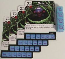 4 X MYSTERIO: QUENTIN BECK 99/142 The Amazing Spider-Man Dice Masters