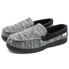 Men's Canvas Moccasin Slippers Comfort Driving Shoes House Loafers Slip on Flats