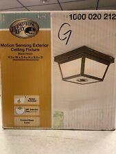 Home Outdoor Ceiling Fixture Porch 360 Square 4-Light Lighting Flush Mount Black