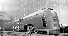 "The Chicago Mercury Train Futuristic Art Deco - 17"" x 22"" Fine Art Print - 00255"
