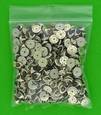 100 Military Style Butterfly Clutch Clasps -Lapel Hat Pin Tie Tack Backs silver